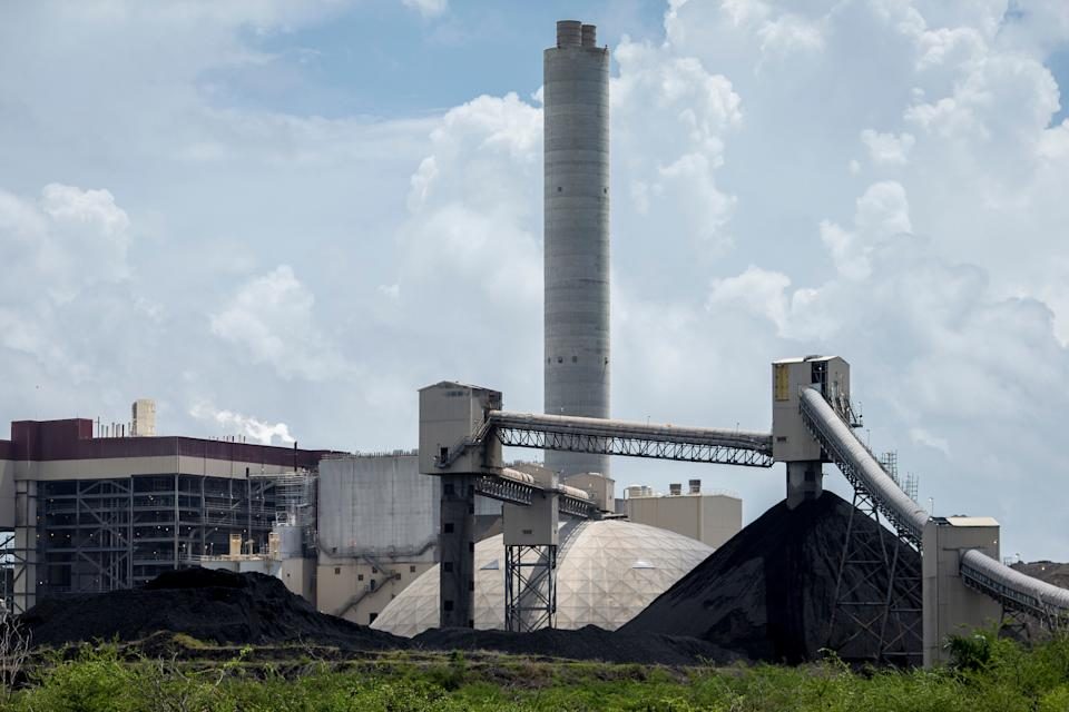 The AES coal-fired power plant in Guayama.  (Photo: Dennis Rivera Pichardo for HuffPost)