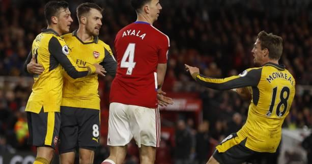 Foot - ANG - Arsenal s'impose dans la douleur à Middlesbrough