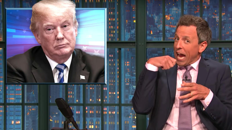 Seth Meyers Spends 3 Glorious Minutes Taunting Donald Trump Over His 'Space Force'