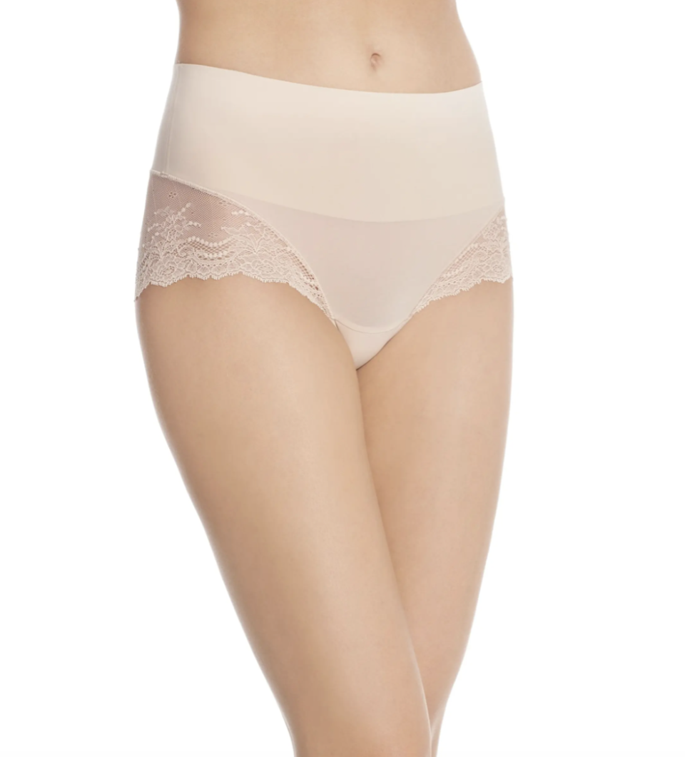 Spanx Undie-tectable Lace Hi-Hipster Panties in Soft Nude (Photo via Nordstrom Canada)