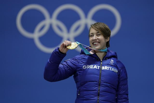 Olympic Skeleton athlete Lizzy Yarnold would be forgiven for hitting the town hard after bagging gold at the Pyeongchang Games on Saturday, but she had other ideas.