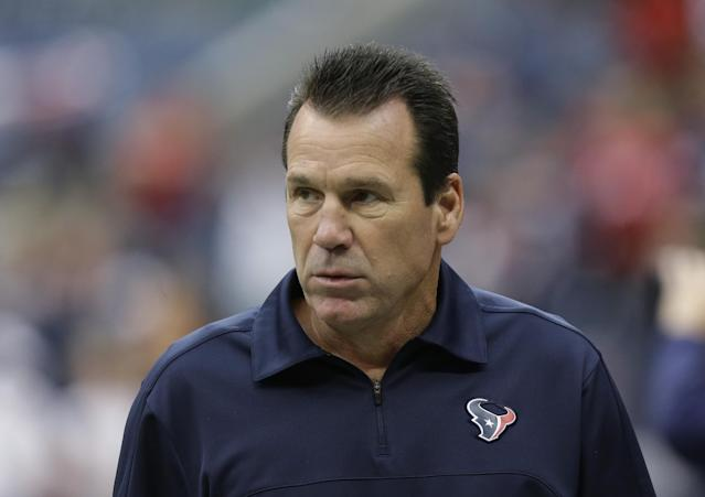 Houston Texans head coach Gary Kubiak watches from the sidelines during an NFL football game against the Seattle Seahawks, Sunday, Sept. 29, 2013, in Houston. (AP Photo/Patric Schneider)