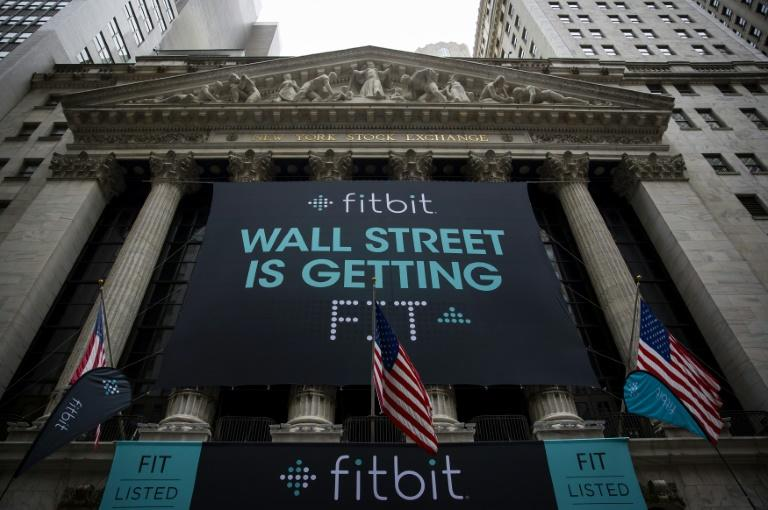 Fitbit made its debut on the New York Stock Exchange in 2015 but its market value has been slipping in the past three years (AFP Photo/Eric Thayer)
