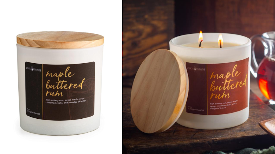 You can burn this candle all the way through the holidays.
