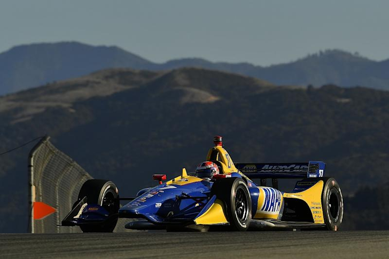 Hunter-Reay ends day one of Laguna finale fastest