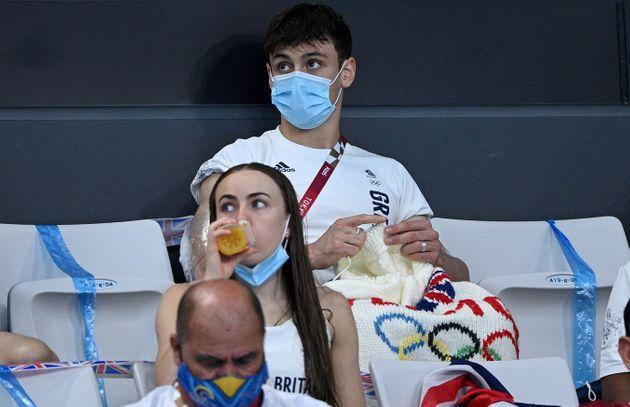 Tom Daley has spotted knitting in the Olympic crowd twice this week (Photo: OLI SCARFF via Getty Images)