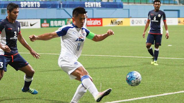 Goals from skipper Chhetri and defender Khabra meant Albert Roca and company ended the tie with full points.