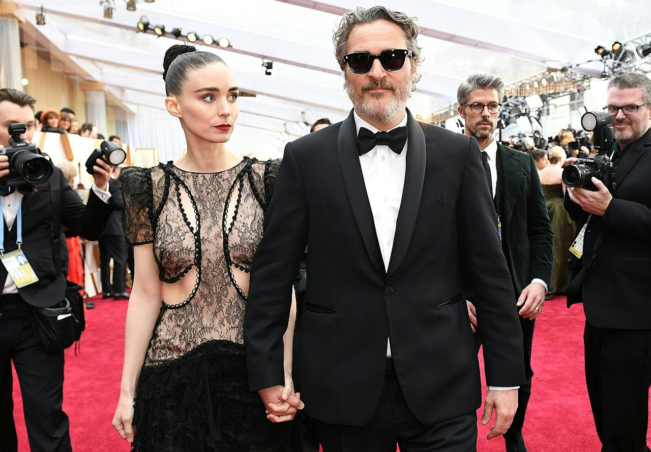 """<p>Mara and Phoenix, who met on the set of the 2013 film <em>Her </em>and <a href=""""https://people.com/movies/rooney-mara-joaquin-phoenix-spark-engagement-rumors/"""">got engaged</a> in 2019, <a href=""""https://people.com/parents/joaquin-phoenix-rooney-mara-welcome-first-child-son-river/"""">welcomed their first child together</a>, a son named River after <a href=""""https://people.com/movies/river-phoenix-died-25-years-ago-today-at-23-inside-the-beloved-actors-turbulent-life/"""">Phoenix's late brother</a> who died in 1993.</p> <p>Russian filmmaker Victor Kossakovsky, who Phoenix worked with on the dialogue-free documentary<em>Gunda</em>, confirmed the name of the couple's baby during an appearance at the 2020 Zurich Film Festival.</p> <p>""""He just got a baby by the way,"""" Kossakovsky revealed while speaking at the festival. """"A beautiful son called River.""""</p>"""