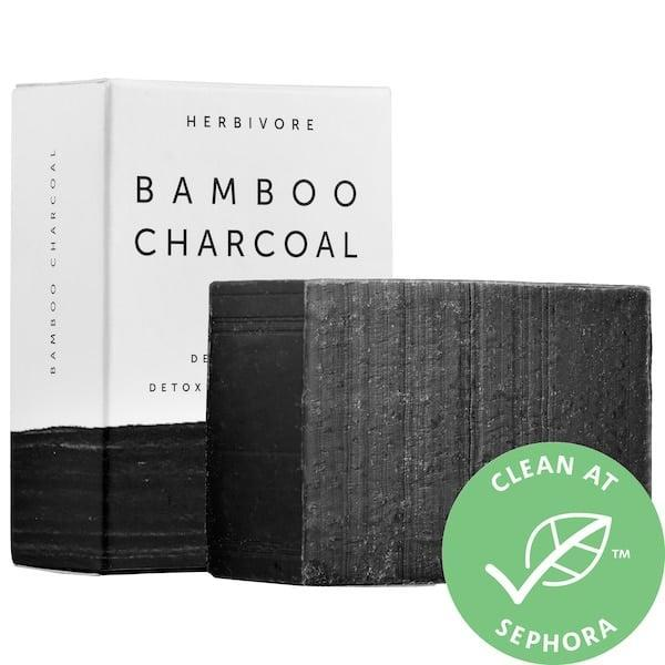 "<p>The bamboo charcoal in this <a href=""https://www.popsugar.com/beauty/Definition-Noncomedogenic-7470341"" class=""link rapid-noclick-resp"" rel=""nofollow noopener"" target=""_blank"" data-ylk=""slk:noncomedogenic"">noncomedogenic</a> <span>Herbivore Bamboo Charcoal Detoxifying Soap Bar</span> ($12) helps draw out toxins from deep within skin while also gently exfoliating at the same time. There are no artificial ingredients inside, including fillers, fragrance, or non-natural preservatives.</p>"