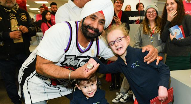 Nav Bhatia, not Vince Carter or Kyle Lowry, will be the first Toronto Raptors legend enshrined into the Basketball Hall of Fame. (Getty)
