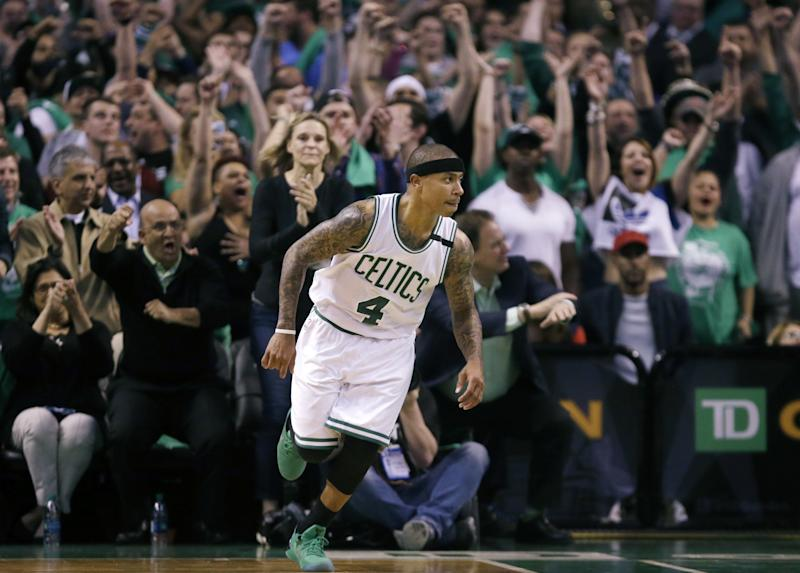 Isaiah Thomas had 29 points and 12 assists in the Celtics' Game 7 victory. (AP)