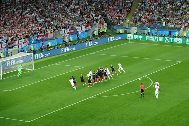 <p>Kieran Trippier puts England ahead in just the fourth minute! </p>