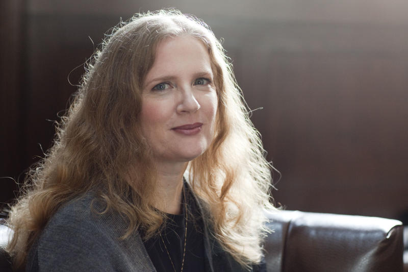 In this Sept. 7, 2010 file photo, author Suzanne Collins poses for a portrait in New York. (AP Photo/Victoria Will, file)