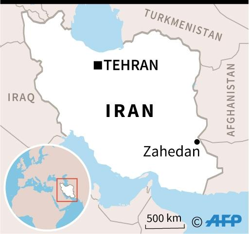 Map of Iran locating the city of Zahedan. (AFP Photo/AFP)
