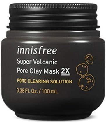 Innisfree Pore Clearing Clay Mask 2x with Super Volcanic Clusters. Image via Amazon