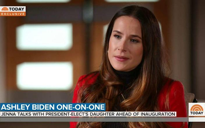 Ashley Biden gives an interview to NBC's Today show - NBC