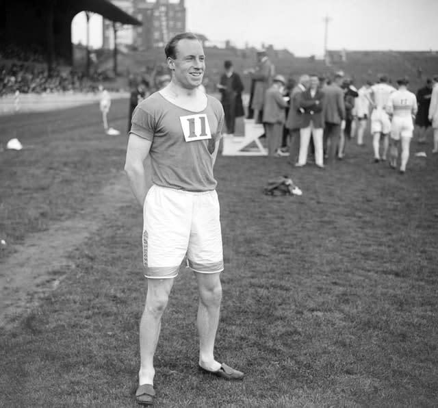 Eric Liddell was due to compete in the 100m, but as a committed Christian he refused to run on a Sunday (PA)