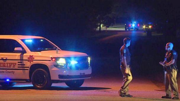 PHOTO: In this photo provided by WHNT-TV News, authorities block access to a street, in Elkmont, Ala., Tuesday, Sept. 3, 2019. (WHNT-TV News via AP)