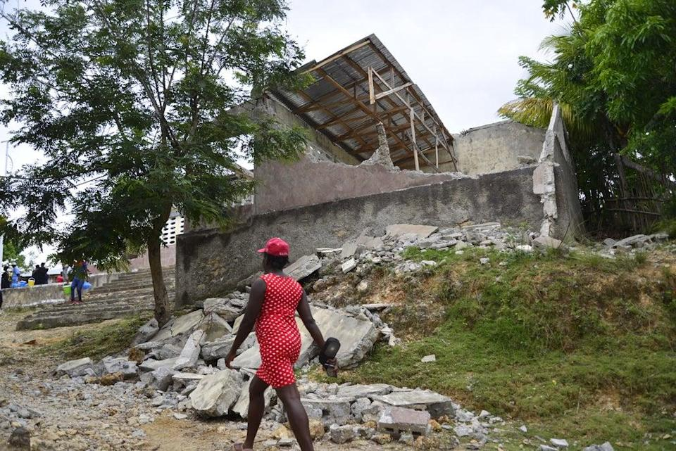 The ruins of the Durenton National School in Jérémie (ActionAid)