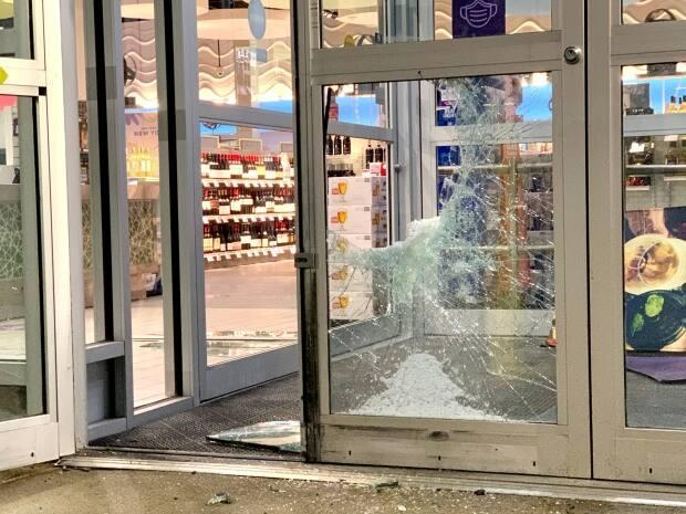 Halifax police say a man broke into the Nova Scotia Liquor Corporation store on Agricola Street in February. (Paul Palmeter/CBC - image credit)