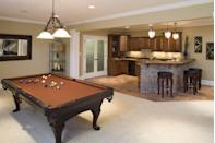 <p>Want your basement to be the party hub of your house? Install a full wet bar.</p>