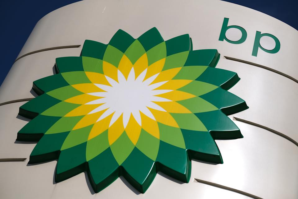 KATWIJK, NETHERLANDS - APRIL 26: A BP logo is pictured outside its gasoline stand on April 26, 2020 in Katwijk, Netherlands. (Photo by Yuriko Nakao/Getty Images)