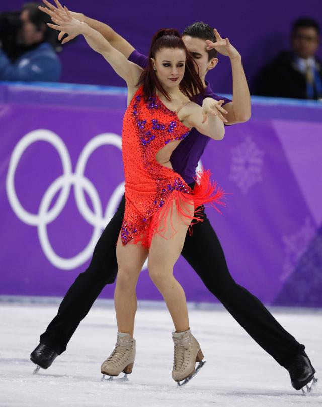 <p>Marie-Jade Lauriault and Romain Le Gac of France perform. REUTERS/Phil Noble </p>