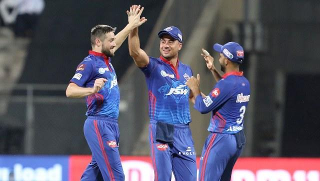 Chris Woakes was Delhi Capitals' best bowler, taking 2/18 and he also got Suresh Raina run out. Avesh Khan also enjoyed a decent night out, picking up two wickets and giving away 23 runs. SportzPics