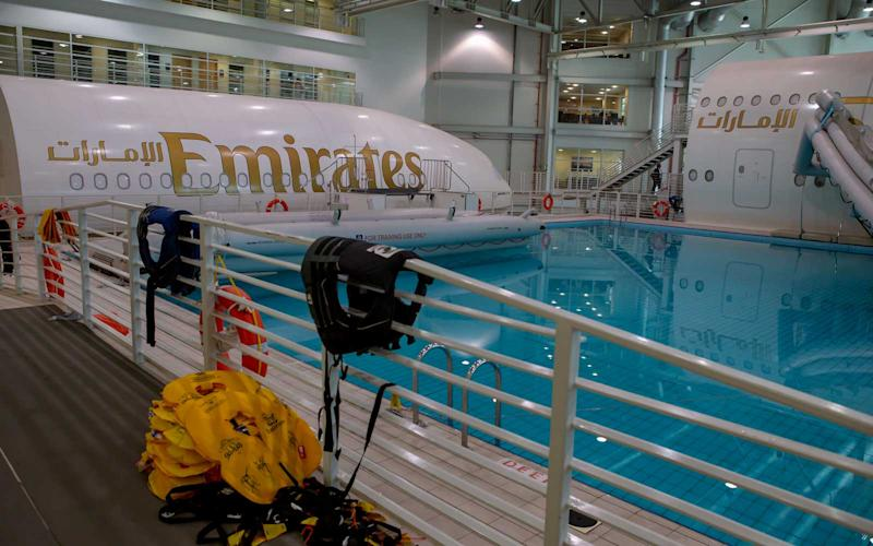 The airline's training facility in Dubai is home to three aircraft simulators crew use to train with. | Talia Avakian