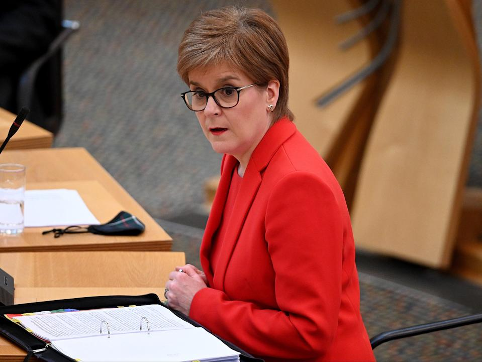 <p>Details will be released weekly, Sturgeon says</p> (PA)