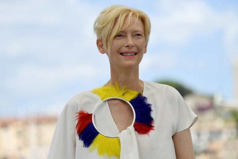 Swinton is the latest star to get involved with VR, narrating new release 'Goliath' (AFP/CHRISTOPHE SIMON)