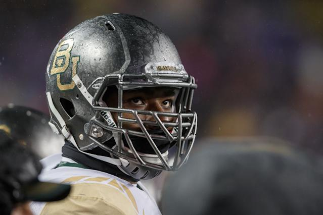 Shawn Oakman began playing in the Spring League this month. (Getty Images)