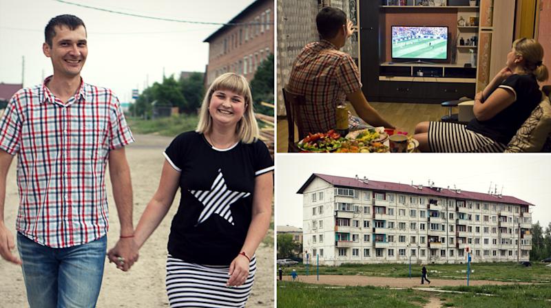 Thousands of miles away in Siberia, Anatolii and Julia watched a 5–0 score for their team against Saudi Arabia.