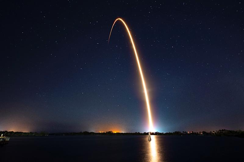 Israel's first spacecraft to the moon was launched from Cape Canaveral in Florida (AFP Photo/HO)