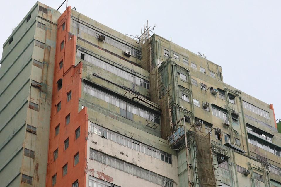 The Tsuen Wan factory building where the explosives were discovered. Photo: Felix Wong