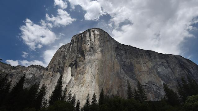 One person died and another was injured Wednesday after a rockfall on a popular climbing route in Yosemite National Park, the National Park Service said.