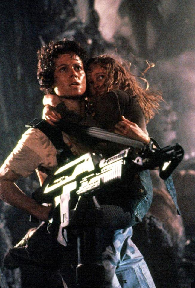 """<a href=""""http://movies.yahoo.com/movie/contributor/1800015109"""">Sigourney Weaver</a>, """"<a href=""""http://movies.yahoo.com/movie/1800340649/info"""">Aliens</a>""""<br><br> After surviving the first installment of this iconic sci-fi film franchise, Sigourney Weaver's Ripley takes the lead and faces her fears by returning to LV-426 to duke it out with facehuggers, chestbursters, and the one-and-only Alien queen before returning to hypersleep… and two additional sequels."""