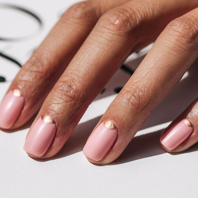 """<p>Decorate your cuticles with copper mini moons. Love.</p><p><a href=""""https://www.instagram.com/p/B1tmhAulDS0/"""" rel=""""nofollow noopener"""" target=""""_blank"""" data-ylk=""""slk:See the original post on Instagram"""" class=""""link rapid-noclick-resp"""">See the original post on Instagram</a></p>"""