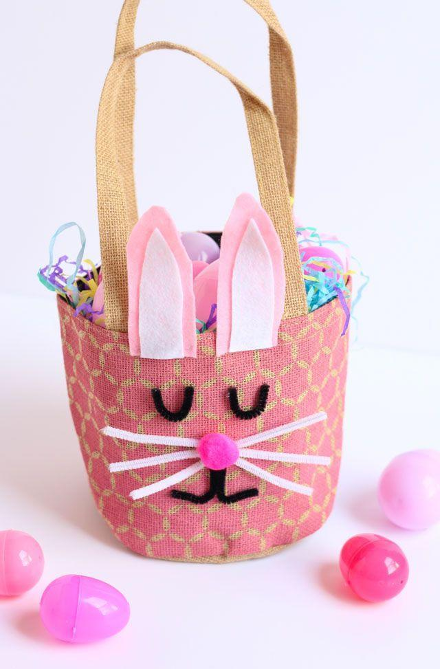 "<p>A little bit of felt, some pipe cleaners, and a hot glue gun is all you need to transform a reusable bag into an adorable Easter basket for kids. </p><p>Get the tutorial at <a href=""https://designimprovised.com/2018/03/simple-bunny-easter-basket.html"" rel=""nofollow noopener"" target=""_blank"" data-ylk=""slk:Design Improvised."" class=""link rapid-noclick-resp"">Design Improvised.</a></p><p><a class=""link rapid-noclick-resp"" href=""https://www.amazon.com/Assorted-Colors-Adhesive-Fabric-Self-Adhesive/dp/B082F45HCP?tag=syn-yahoo-20&ascsubtag=%5Bartid%7C10072.g.30506642%5Bsrc%7Cyahoo-us"" rel=""nofollow noopener"" target=""_blank"" data-ylk=""slk:SHOP FELT"">SHOP FELT</a></p>"