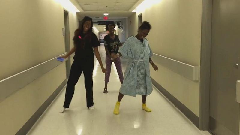 Mom in Labor Dances Between Contractions