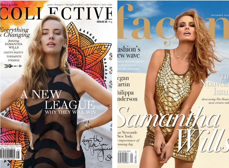 Samantha Wills was shooting for these magazine covers but dealing with a break-up behind the scenes. (Source: samanthawills.com)