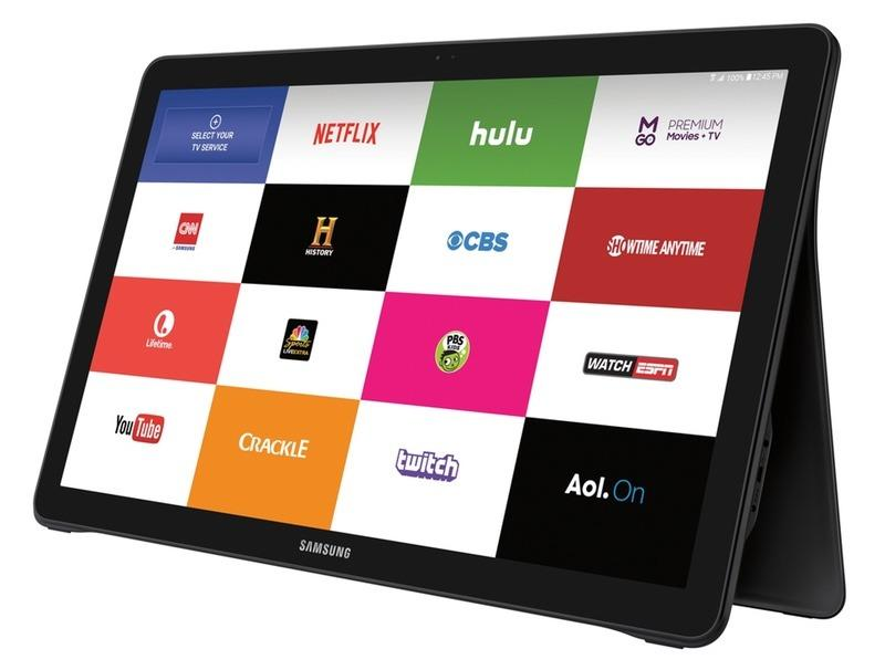 """<p>This <a href=""""http://www.samsung.com/us/explore/galaxy-view-features-and-specs/?cid=ppc-"""">giant (18.4-in.) Android tablet</a> is genius. Computer on the dining room table? TV in the bedroom? A way to show videos or pictures on the coffee table? It's all of that because its back converts quickly to adjust from table to lap. Everything looks amazing on its 1080p HD display. It's light and easy to move around. The battery lasts for eight hours, and when not in use, it can tuck discreetly away on a shelf. <i>(<a href=""""http://www.samsung.com/us/explore/galaxy-view-features-and-specs/?cid=ppc-"""">Samsung</a>, $600)</i></p>"""