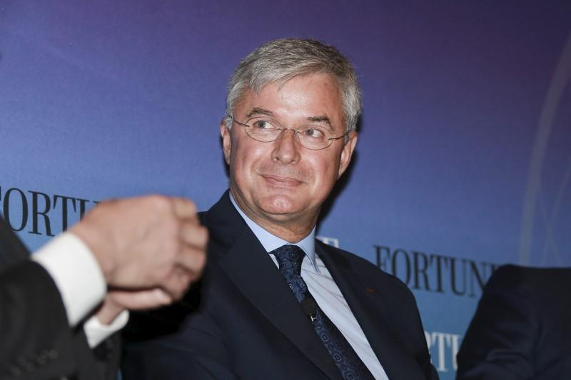 Hubert Joly, Chairman and CEO of Best Buy, participates in a panel at the 2015 Fortune Global Forum in San Francisco