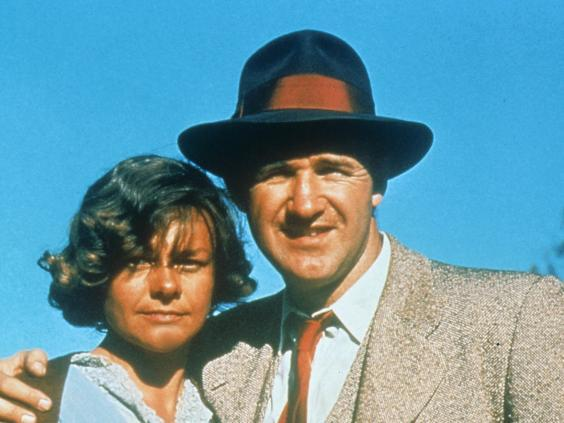 Estelle Parsons and Gene Hackman in 1967 crime film 'Bonnie and Clyde' (Sky)