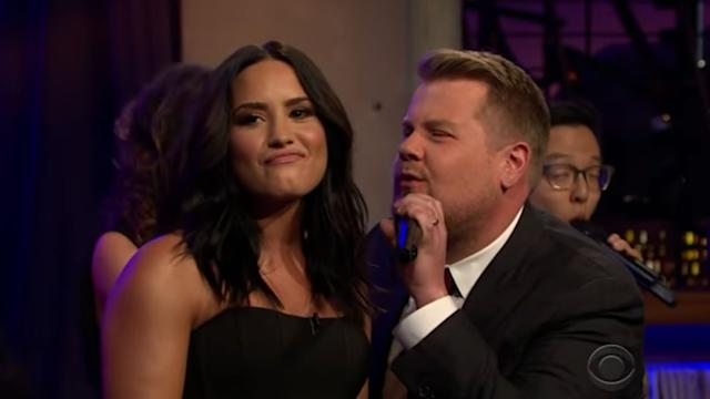 James Corden Has A 'Divas Riff-Off' With Demi Lovato