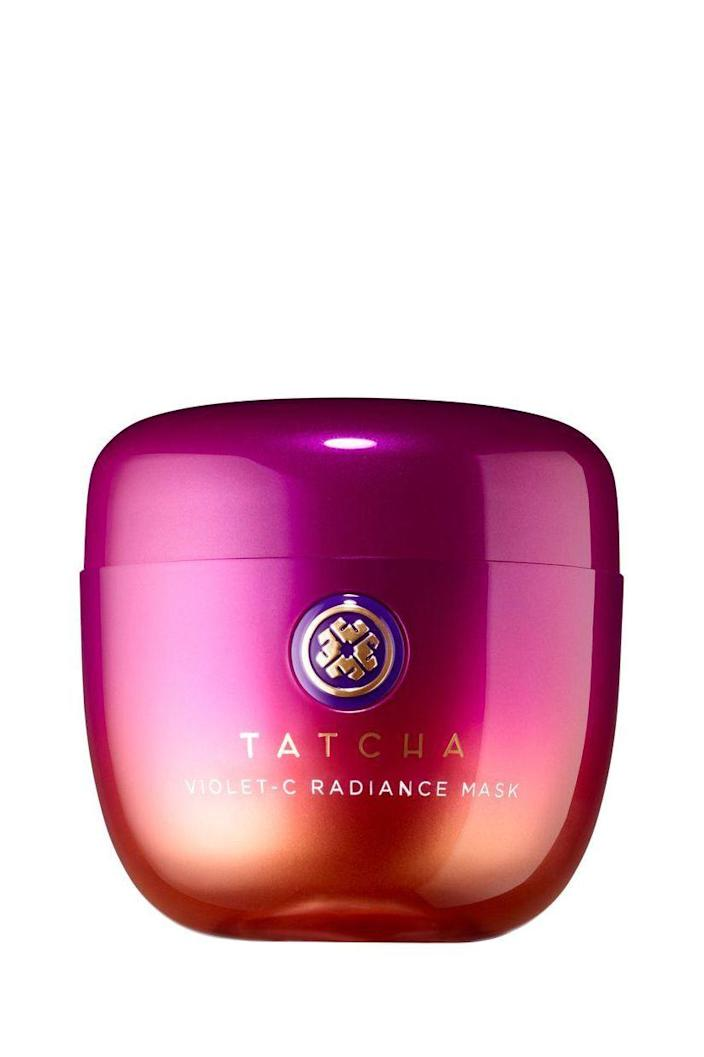 """<p><strong>Tatcha</strong></p><p>sephora.com</p><p><strong>$68.00</strong></p><p><a href=""""https://go.redirectingat.com?id=74968X1596630&url=https%3A%2F%2Fwww.sephora.com%2Fproduct%2Fviolet-c-radiance-mask-P420699&sref=https%3A%2F%2Fwww.marieclaire.com%2Fbeauty%2Fg35218066%2Fbest-products-for-acne-scars%2F"""" rel=""""nofollow noopener"""" target=""""_blank"""" data-ylk=""""slk:SHOP IT"""" class=""""link rapid-noclick-resp"""">SHOP IT</a></p><p>Lifting dark spots and smoothing scars takes time, but for a quick dose of brightness before a night out, layer on this pretty purple mask. </p>"""