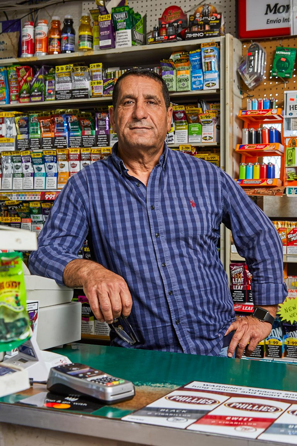 "<div class=""caption"">Ismail Ismail, owner of Highland Food Mart in San Antonio</div><cite class=""credit"">Photo by Hayden Spears</cite>"