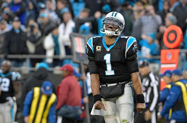 Cam Newton, all smiles. At the moment. (Getty)