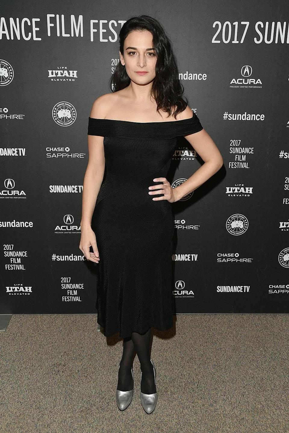 <p>A day after debuting 'The Landline' with Edie Falco, Slate dresses up for her other Sundance entry, 'The Polka King,' on Jan. 22. (Photo: George Pimentel/Getty Images) </p>