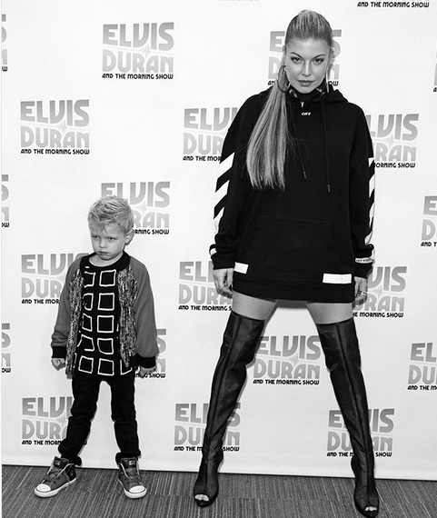 "<p>Don't mess! ""My little bodyguard,"" the singer called her son Axl, 4, as he accompanied his newly single mama while she promoted her second solo album, <em>Double Dutchess</em>, in New York. ""Come at me for taking 11 years on the album."" (Photo: <a href=""https://www.instagram.com/p/BZfMKRBATvv/?taken-by=fergie"" rel=""nofollow noopener"" target=""_blank"" data-ylk=""slk:Fergie via Instagram"" class=""link rapid-noclick-resp"">Fergie via Instagram</a>) </p>"